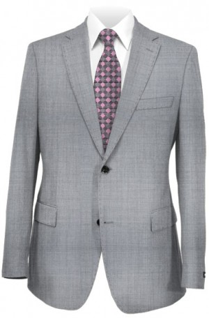"Calvin Klein Pearl Gray ""Extreme Slim"" Stretch Weave Suit #5CW0061"