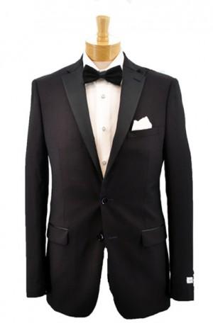 """Calvin Klein Burgundy """"Extreme Slim Fit"""" Tuxedo #5FWX002"""