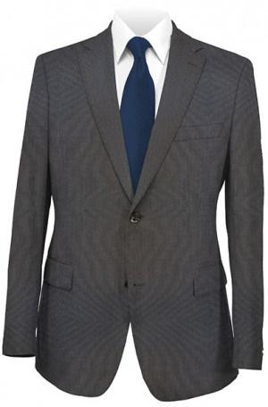 Calvin Klein Black Tick-Weave Tailored Fit Suit #5FX0638