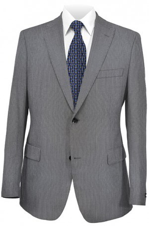 Calvin Klein Gray Hairline Tailored Fit Suit #5FX0701