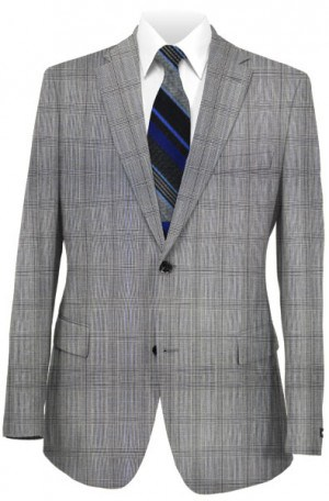 Calvin Klein Gray Pattern Tailored Fit Suit #5FX1026