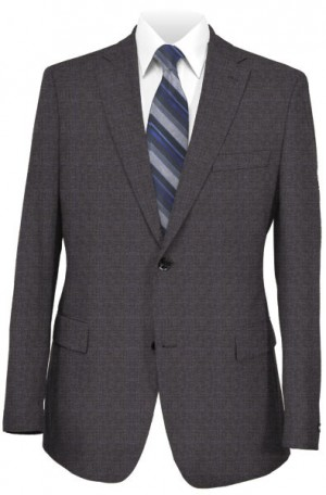 Calvin Klein Gray Windowpane Tailored Fit Suit #5FX1501