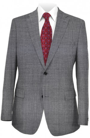 Calvin Klein Gray Tonal Pattern Tailored Fit Suit #5FXL220