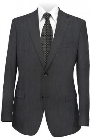 Calvin Klein Black Tonal Stripe Slim Fit Suit #5FY0113