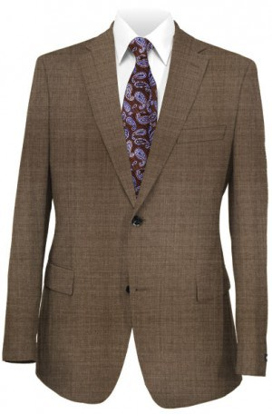 Calvin Klein Brown Solid Color 'Extreme' Slim Fit Suit #5FY0278