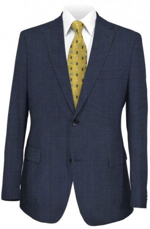 Calvin Klein Navy Micro-Check 'Extreme Slim Fit' Suit #5FY0870