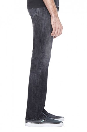 Citizens Sid Straight Leg Washed Black Jeans #604E-351