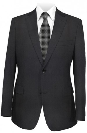 ItalUomo Black Tonal Stripe Tailored Fit Suit #61317-2