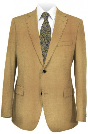 Petrocelli Tan Textured Blazer #62502