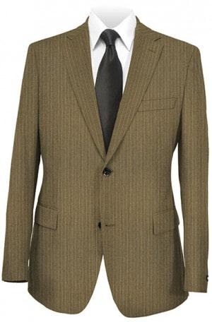 Rubin Dark Tan Stripe Gentleman's Cut Suit 62903