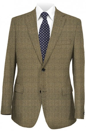 Abboud Taupe Check Gentleman's Fit Sportcoat 633171.