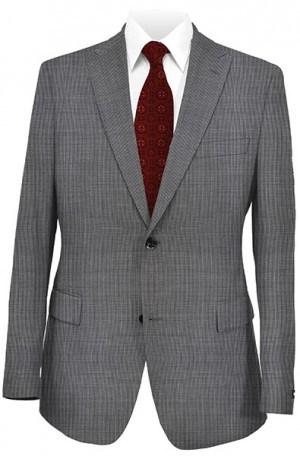 Tiglio Black& White Mini-Check Tailored Fit Vested Suit 700810
