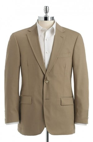 Palm Beach Khaki Poplin Suit #7010FF-IV