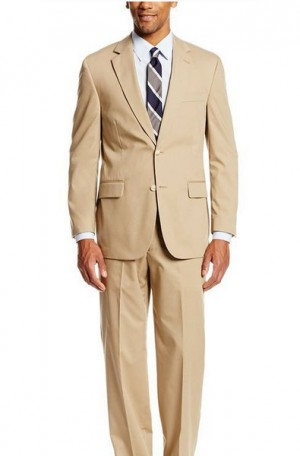 Summer Classic Tan Poplin Suit #7010