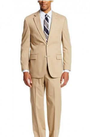 Summer Classic Tan Poplin Suit 7010