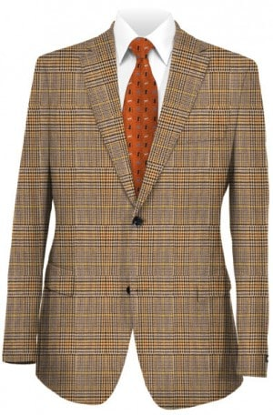 Petrocelli Tan Plaid Gentleman's Cut Sportcoat #70114