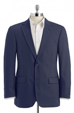 Haspel Blue Poplin Suit with Pleated Slacks #7027P