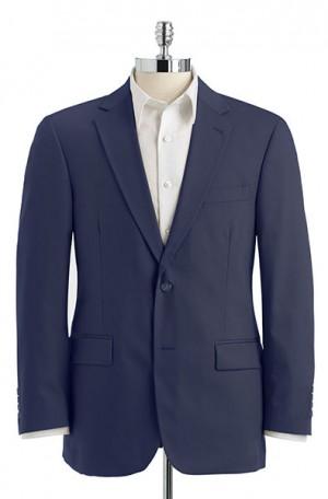 Haspel Blue Poplin Suit with Pleated Slacks 7027P