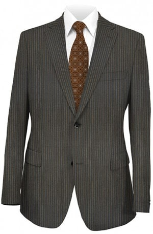 Joseph Abboud Gray Striped Suit with Pleated Slacks #711442