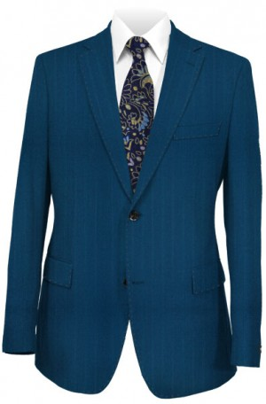 Petrocelli Teal Pattern Gentleman's Cut Suit 71314