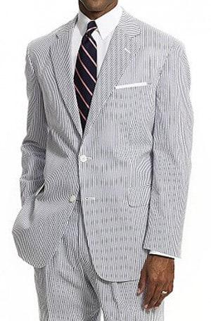 Haspel Pinfeather-Seersucker Suit #7162-SV