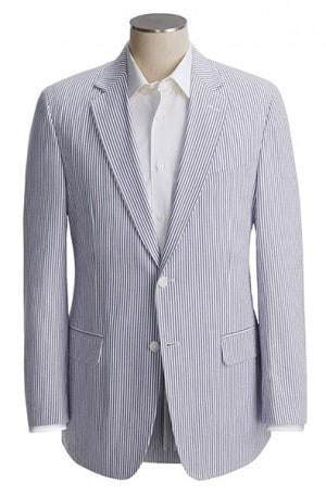 Palm Beach Navy & White Seersucker Suit #7255-IV