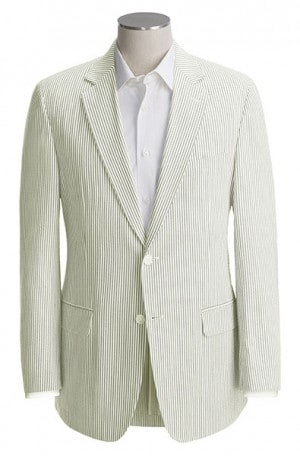 Palm Beach Tan & White Seersucker Suit #7257FF-IV