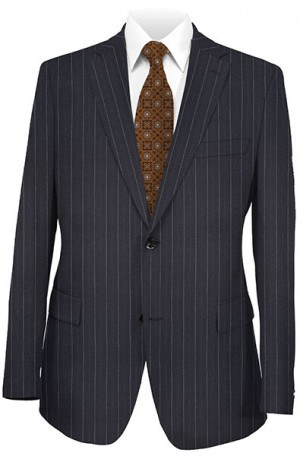 Joseph Abboud Navy Pinstripe Suit with Pleated Slacks #730881