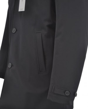 Calvin Klein Black Insulated Raincoat #7AT0008