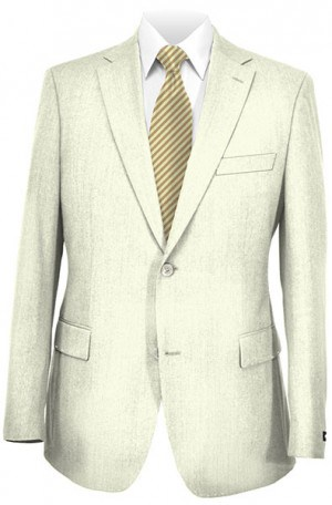Calvin Klein White Linen Tailored Fit Sportcoat #7AY0050