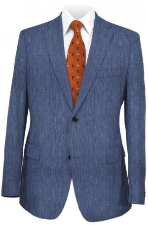Calvin Klein Blue Micro-Stripe Linen Sportcoat #7AY0128