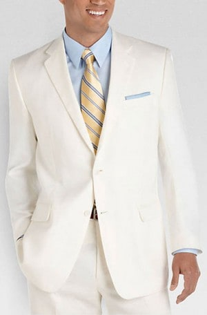 Calvin Klein White Tailored Fit Sportcoat #7GW000