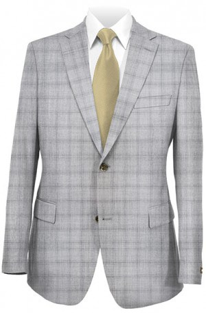 Calvin Klein Light Gray Pattern Tailored Fit Sportcoat #7JX0680