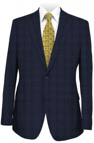 Calvin Klein Navy Pattern Tailored Fit Sportcoat #7JX1036