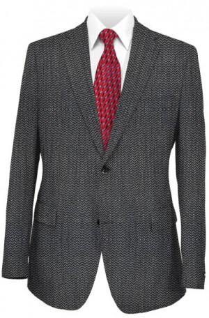 Calvin Klein Gray Herringbone Tailored Fit Sportcoat #7KZ0070