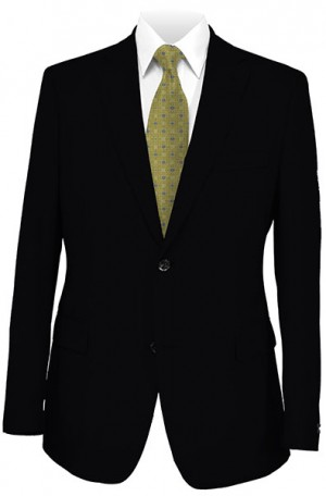 Cosani Black Solid Color Suit #801-0S2-0