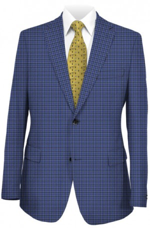 Petrocelli Blue Check Gentleman's Fit Sportcoat #80104