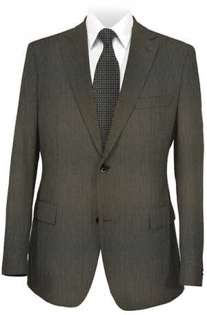 Rubin Brown Stripe Classic Fit Suit #80709
