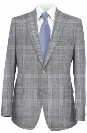 Gruppo Bravo Gray Pattern Tailored Fit Suit #80832-4