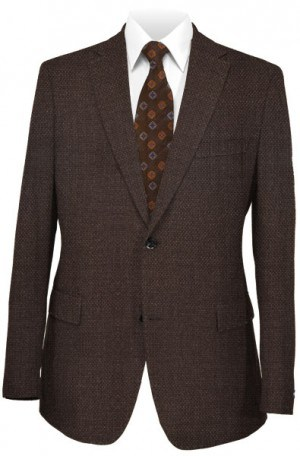 TailoRed Brown Diamond-Dot Tailored Fit Sportcoat #8110042