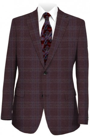 TailoRed Plum Pattern Tailored Fit Sportcoat #8110056