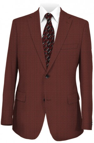 """The Universal"" Burgundy Wool-Silk Tailored Fit Sportcoat from TailoRed #8110073"