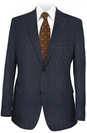 Joseph Abboud Navy Pattern Suit with Pleated Slacks #811773