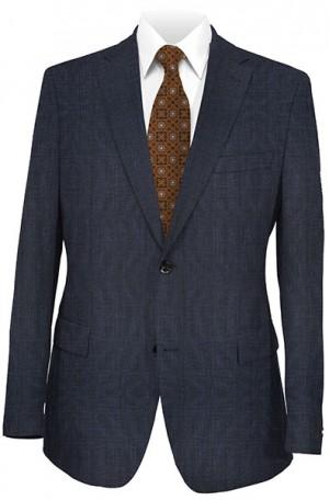 Joseph Abboud Navy Pattern Suit with Pleated Slacks 811773