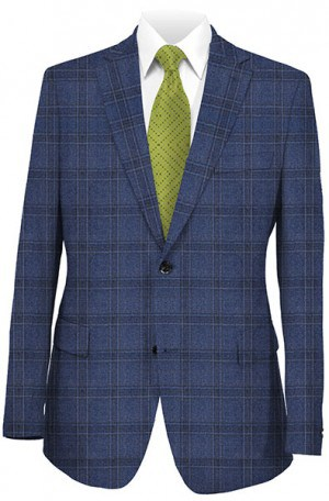 Mattarazi Blue Plaid Sportcoat 811833-2.