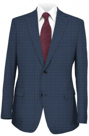 TailoRed Blue Check Tailored Fit Sportcoat #8130053