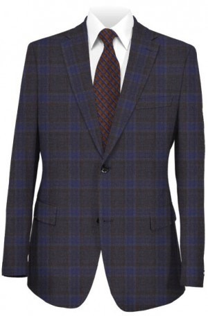 TailoRed Navy & Brown Pattern Sportcoat #8130055