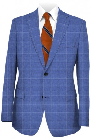 """Perfectly Blue"" Tailored Fit Sportcoat from TailoRed & Loro Piana #8130073"