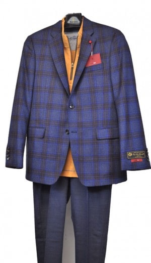 TailoRed Blue Pattern Slim Fit Sportcoat 8140008