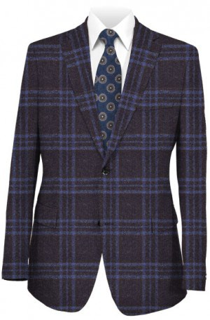 TailoRed Navy Pattern Wool-Cashmere Sportcoat #8140067
